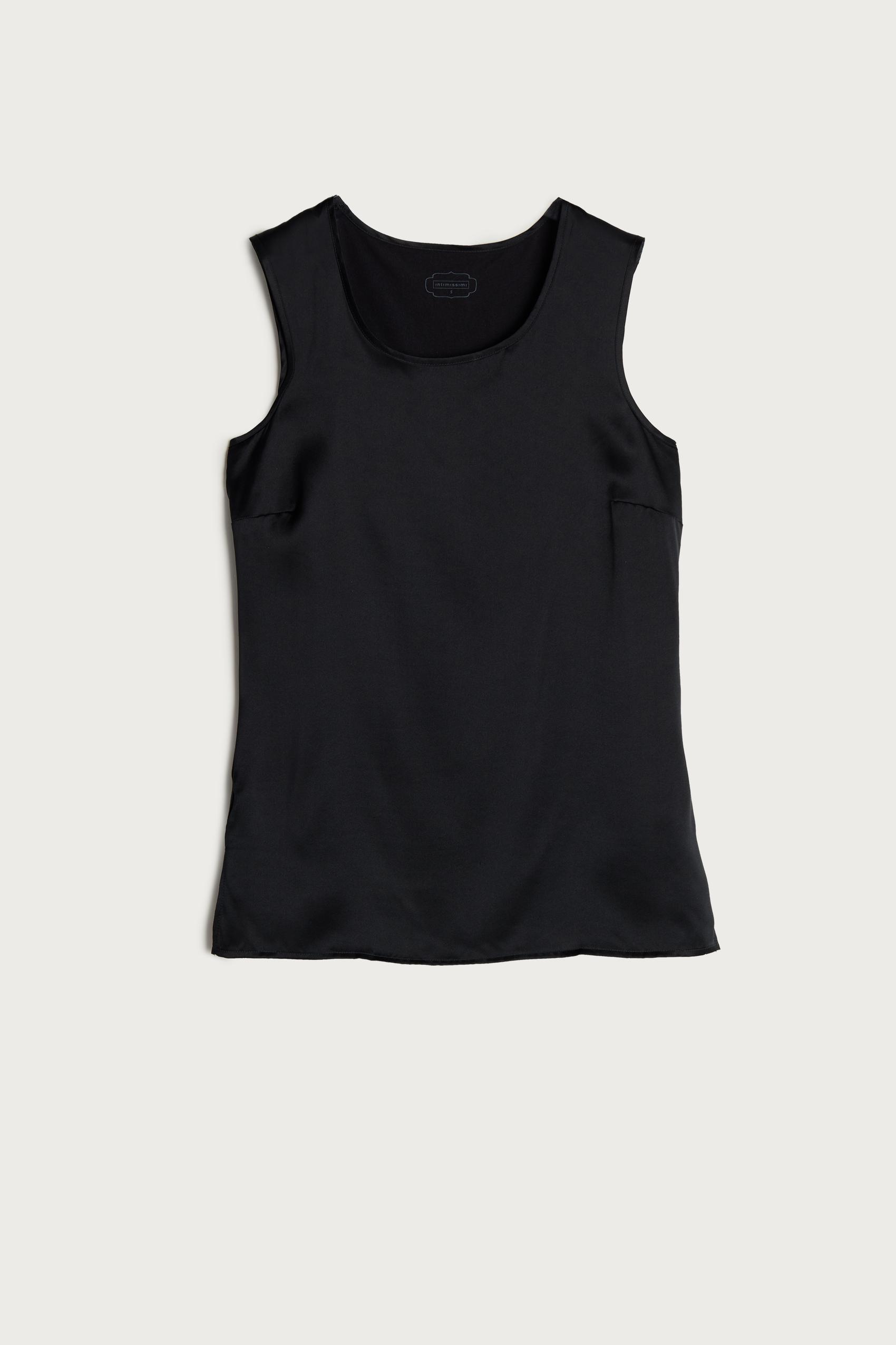 intimissimi - Rundhals-Top mit breiten Schultern aus Seide und Modal