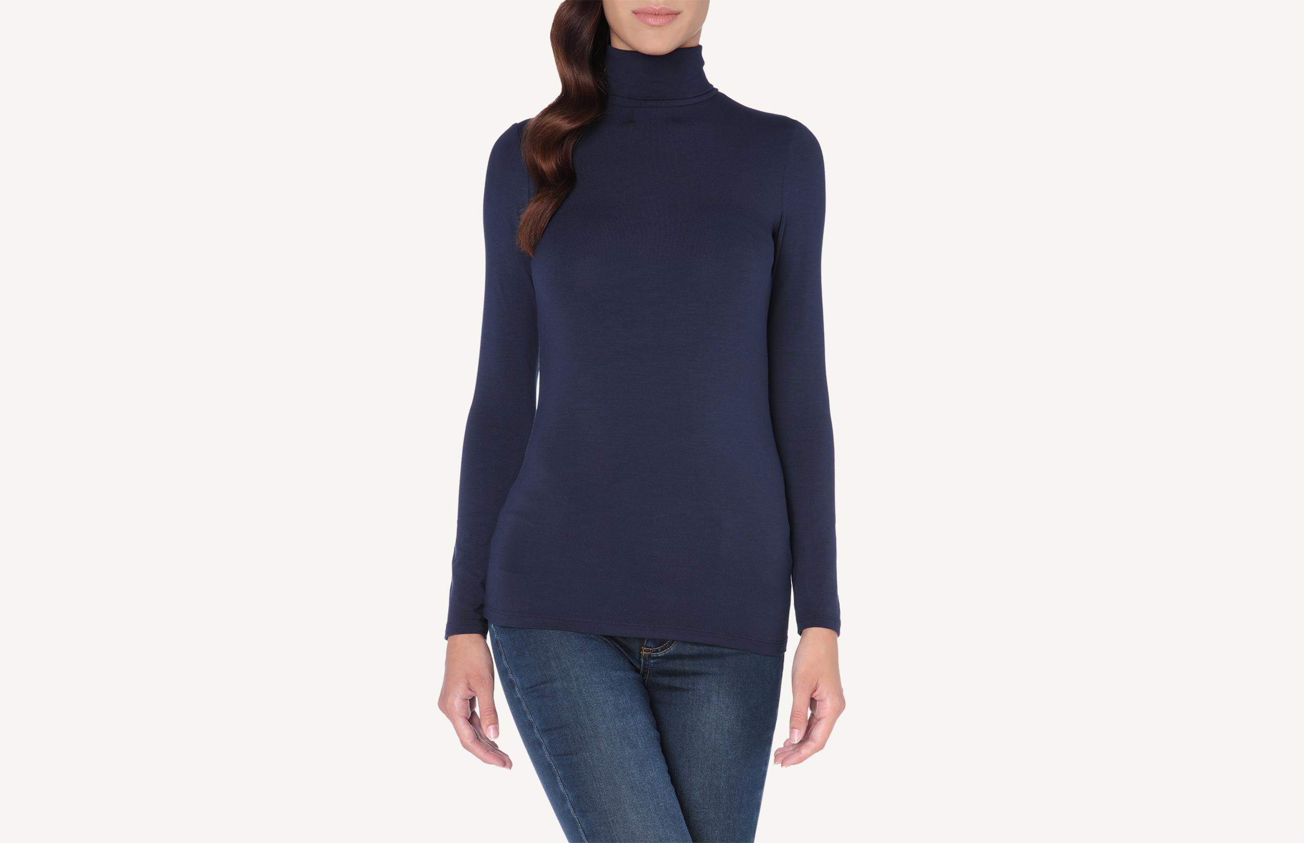 intimissimi - Langarm-Shirt aus Mikromodal mit Rollkragen
