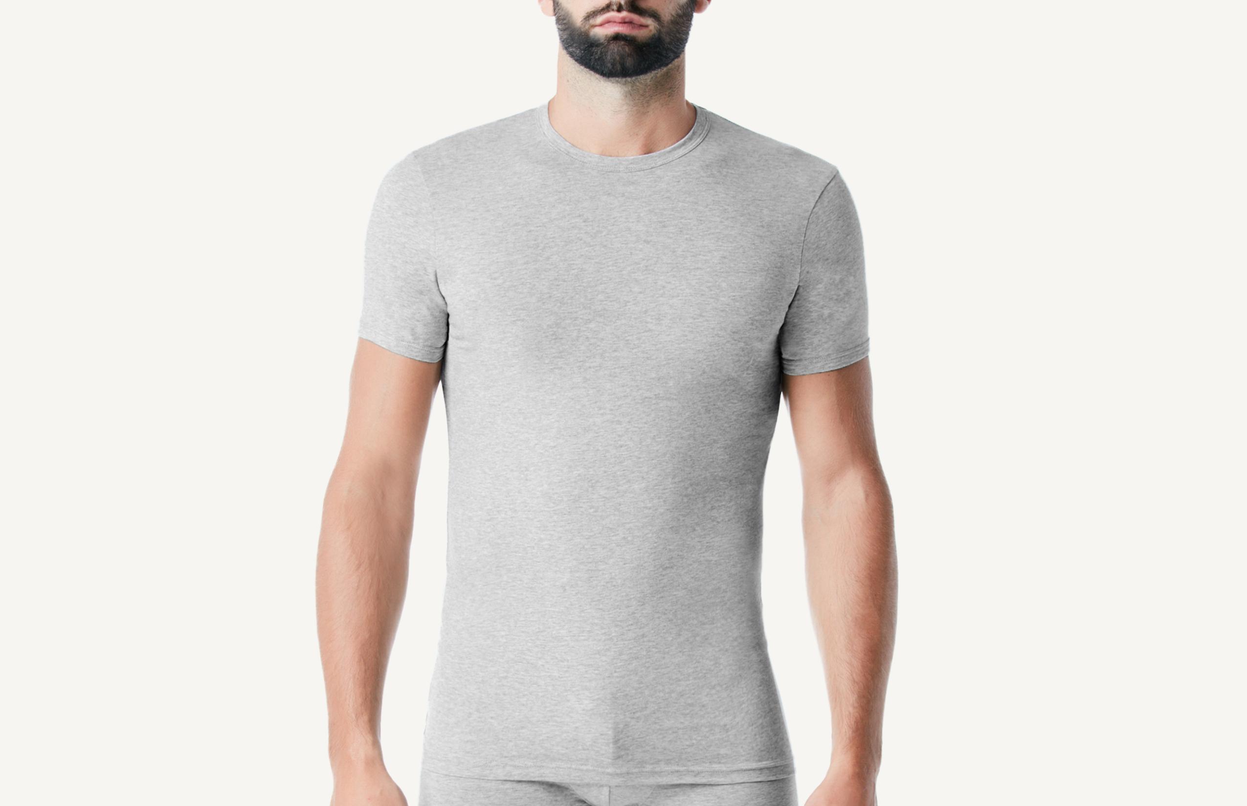 intimissimi - Rundhals-T-Shirt mit halbem Arm aus elastischer Baumwolle