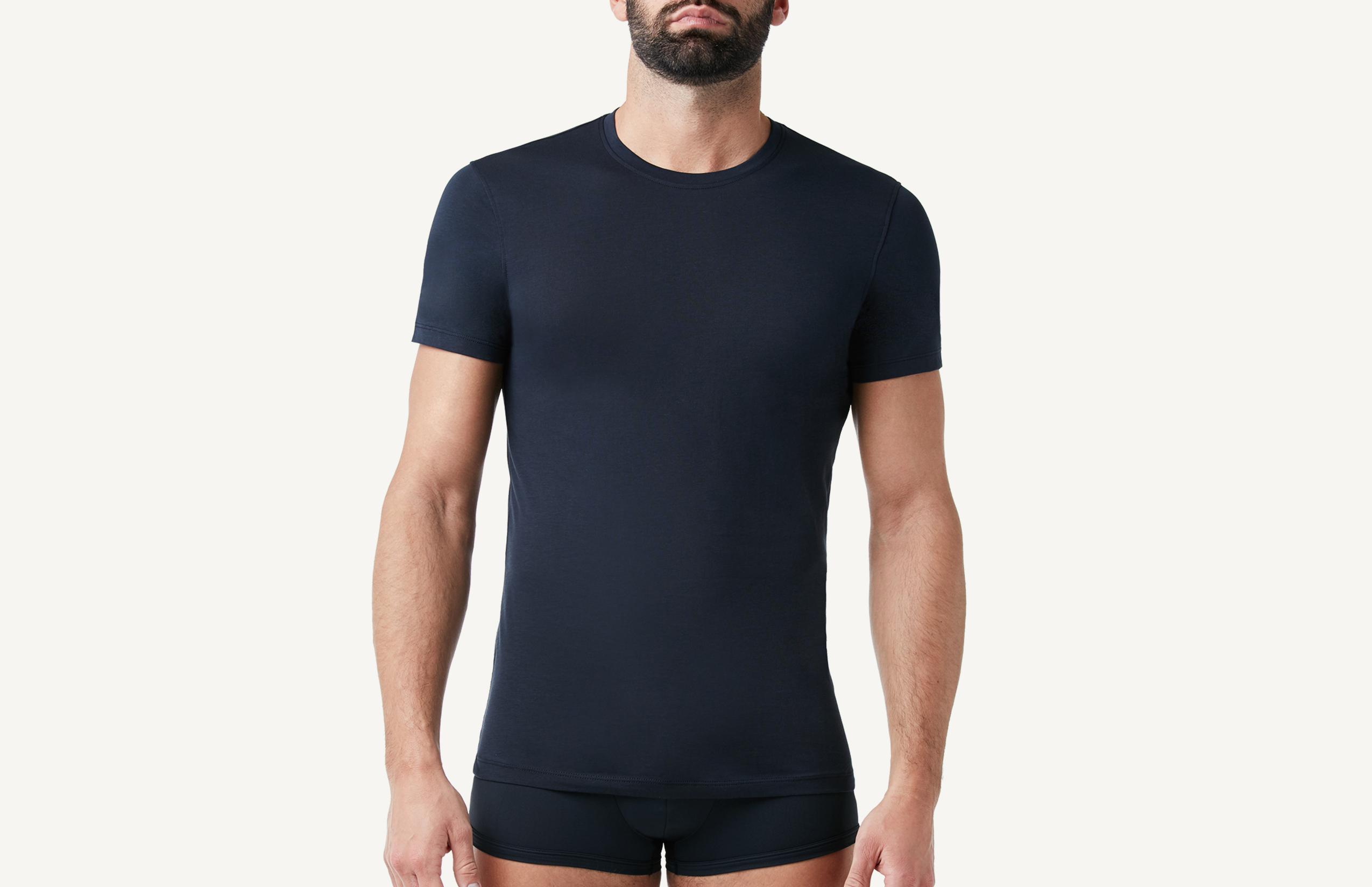 intimissimi - Kurzarm-T-Shirt mit Rundhalsausschnitt aus Supima®-Baumwolle Extrafein