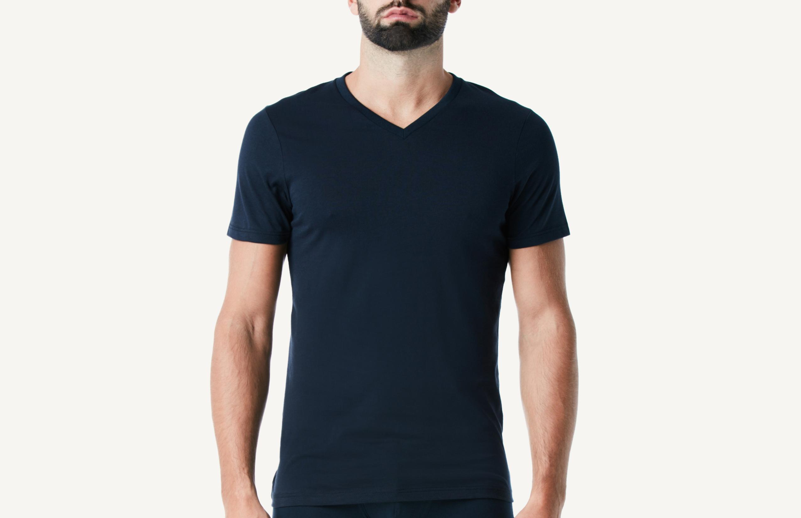 intimissimi - Kurzarm-T-Shirt mit V-Ausschnitt aus Supima®-Baumwolle