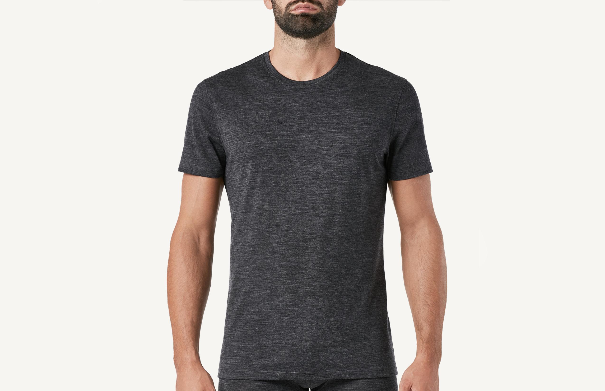 intimissimi - Kurzarm-T-Shirt aus Stretch-Merinowolle