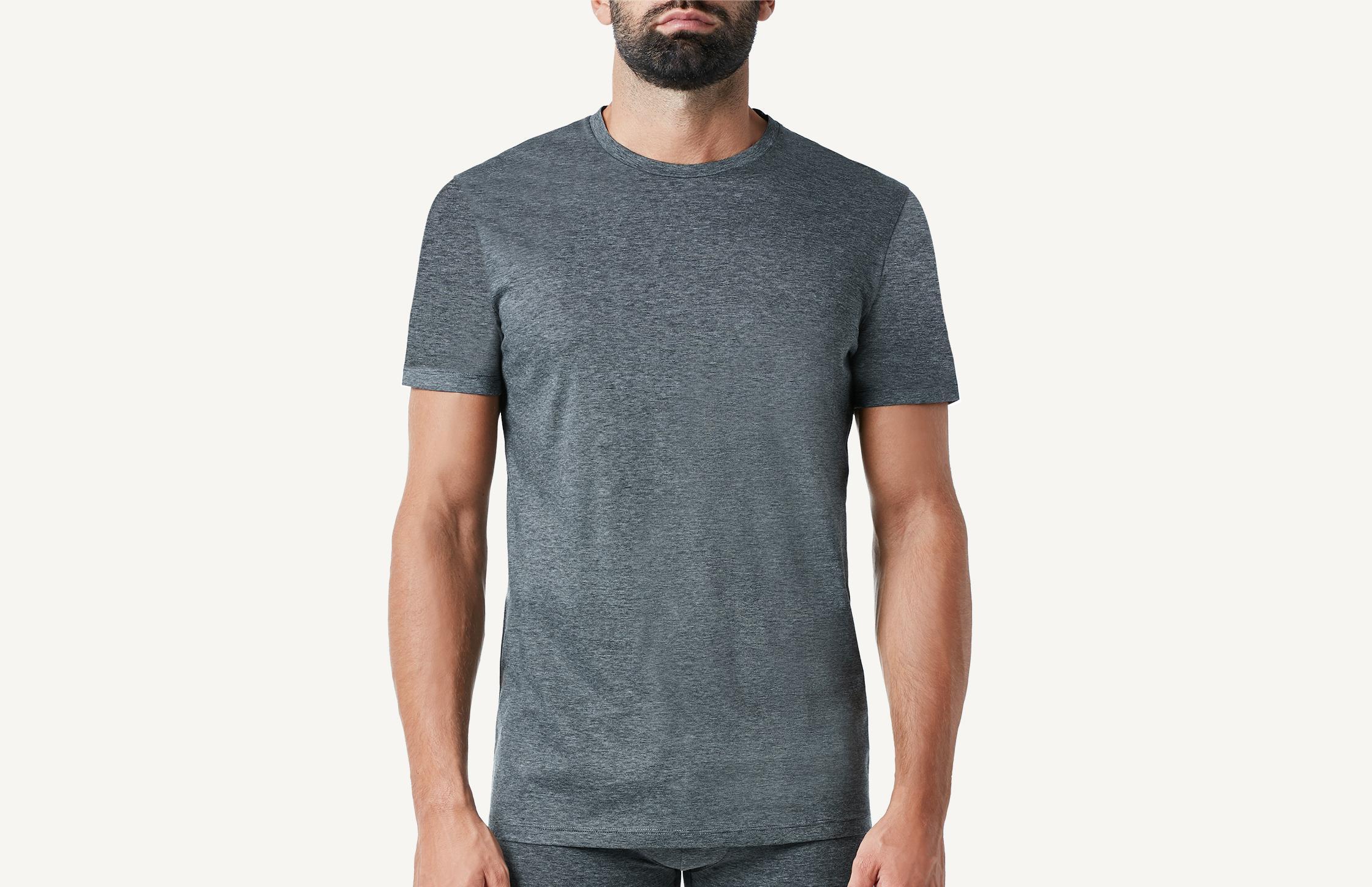 intimissimi - Kurzarm-Shirt Mercerisierte Baumwolle Streifen