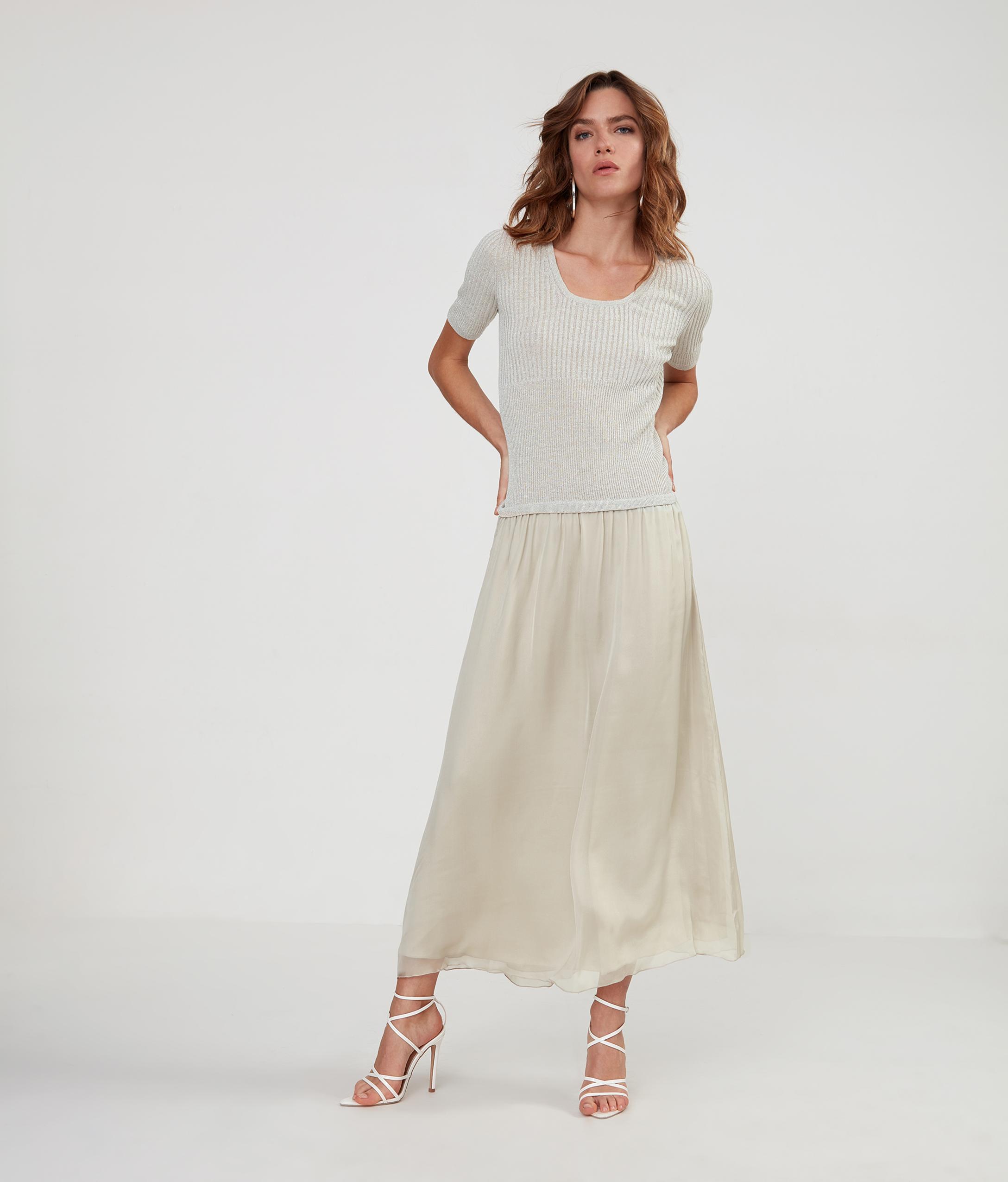 Vestido Falda Seda