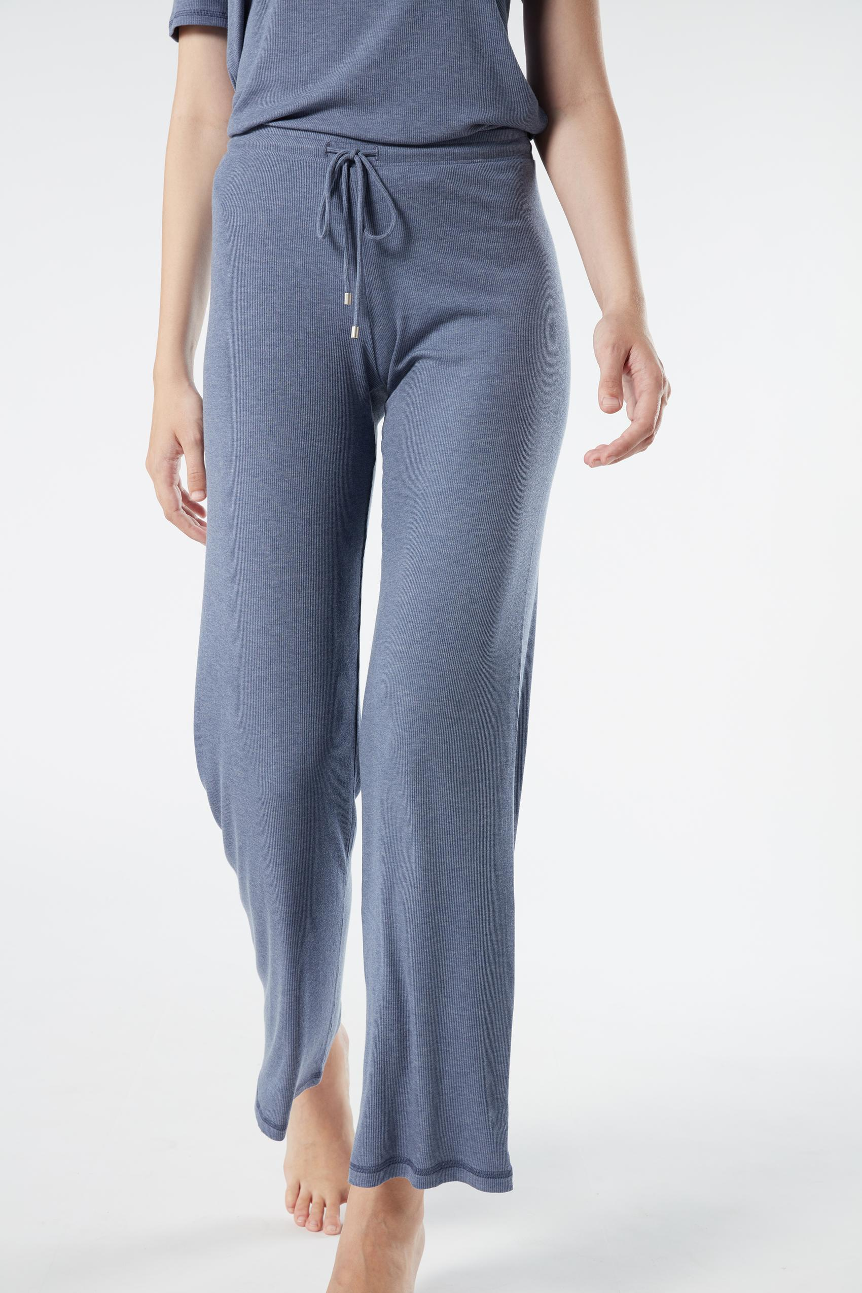 Intimissimi Ribbed Modal Blend Wide-Leg Trousers