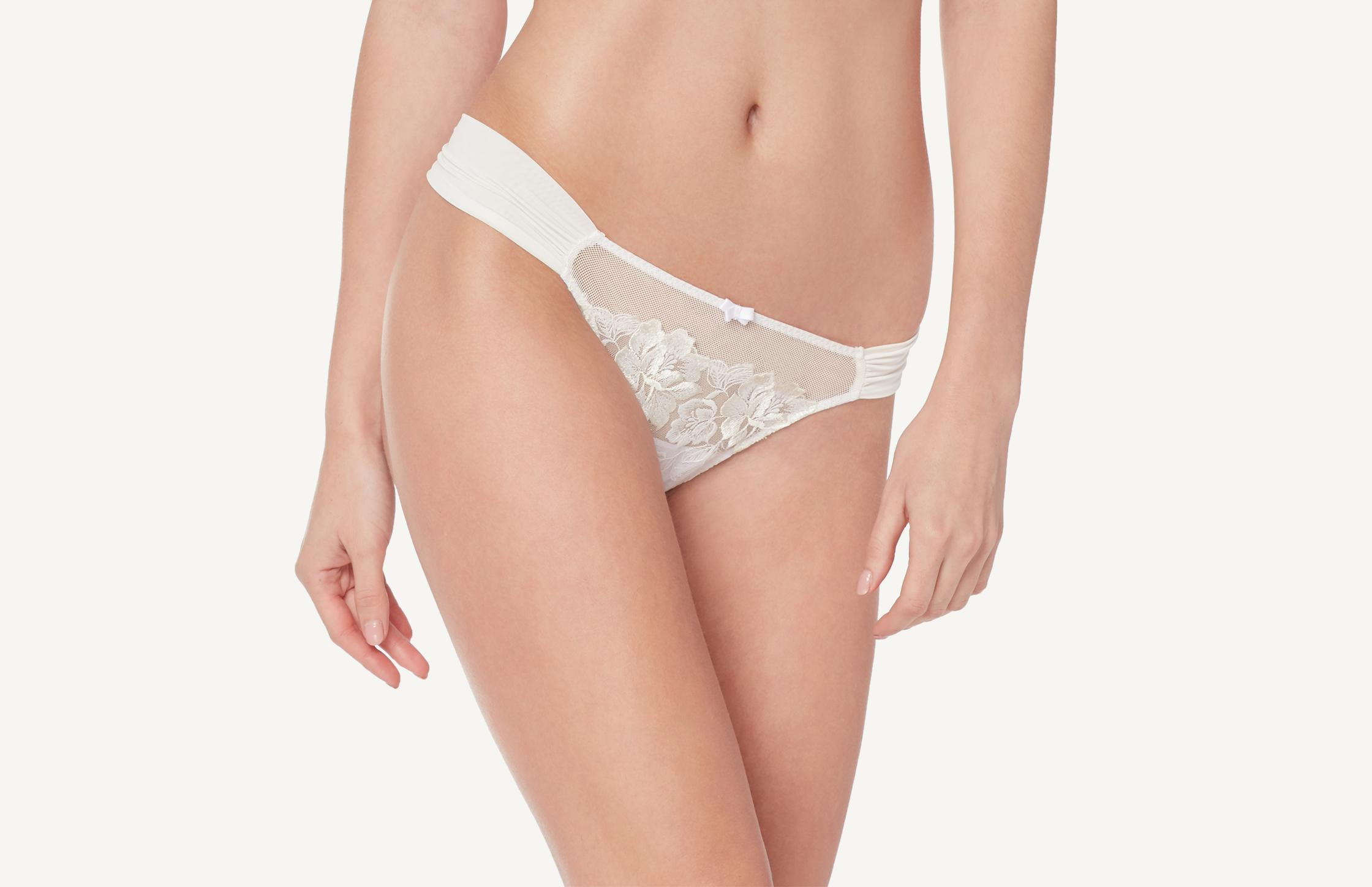 intimissimi - Brazilian-Slip Blooming Embroidery