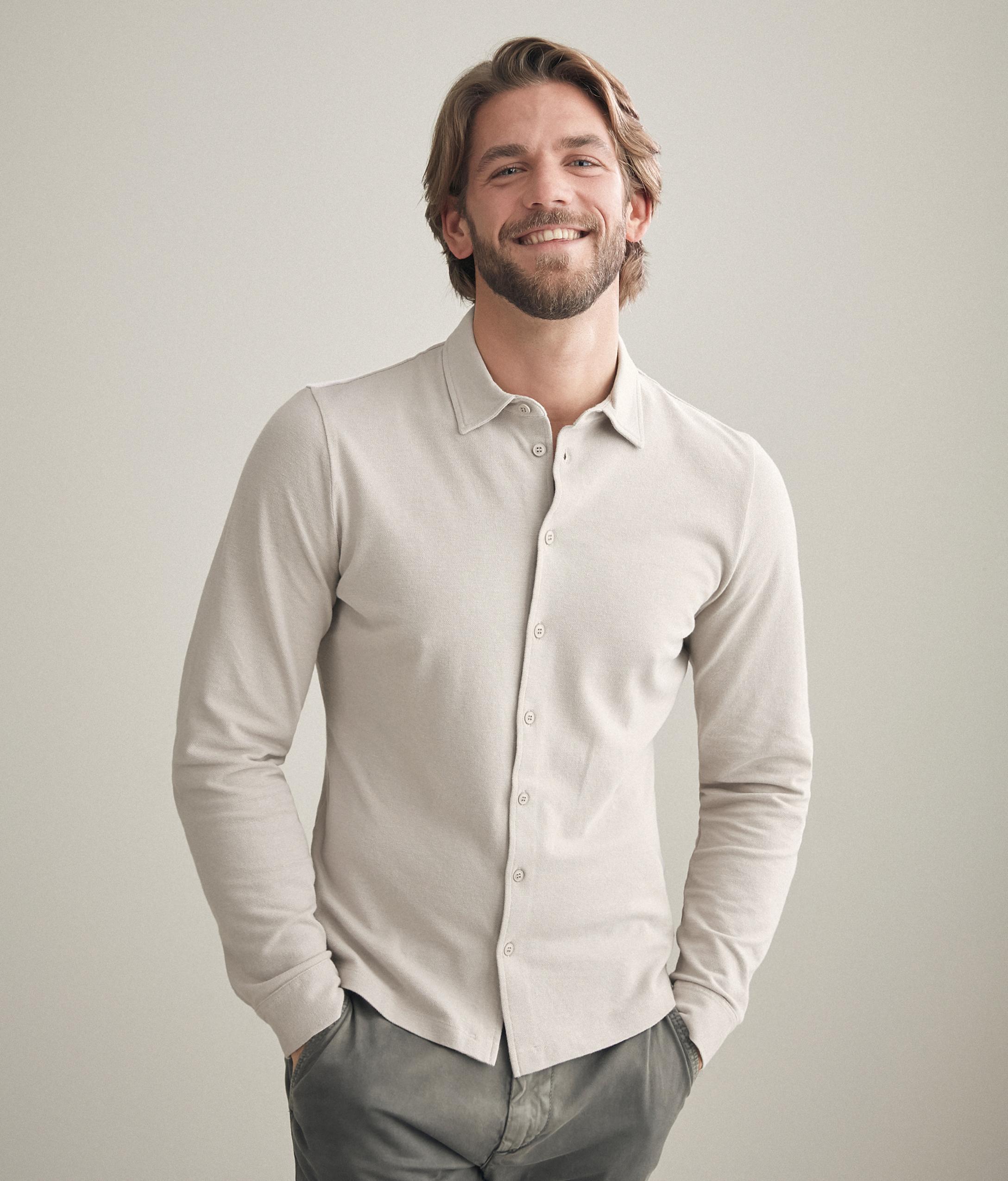 Chemise piqué coton soie