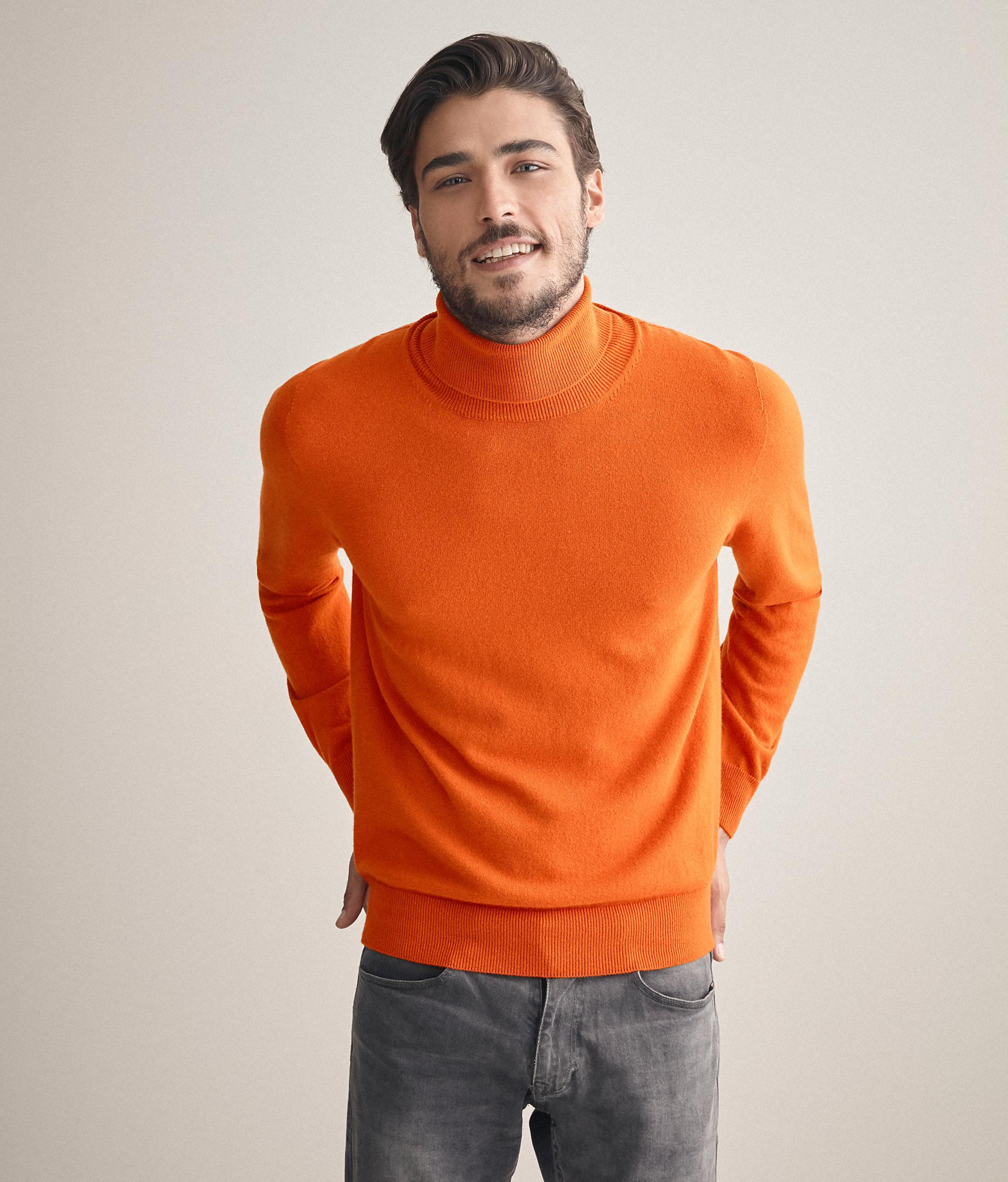 Suéter cuello vuelto cachemira ultrasuave