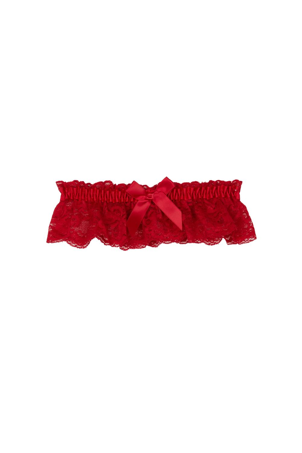 Lace and Satin Garter