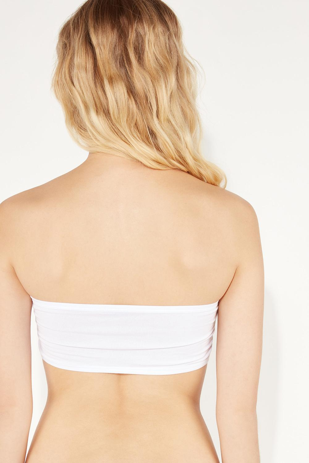 Sydney Bandeau Bra Top with Shirring