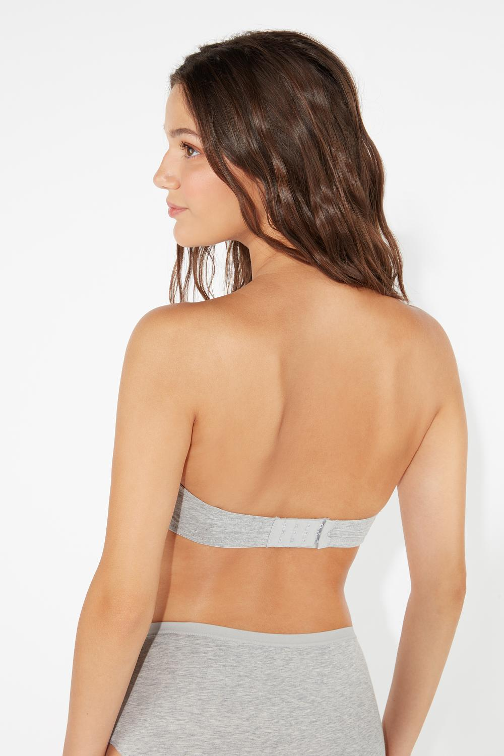 Valencia Cotton Moulded Bandeau Bra