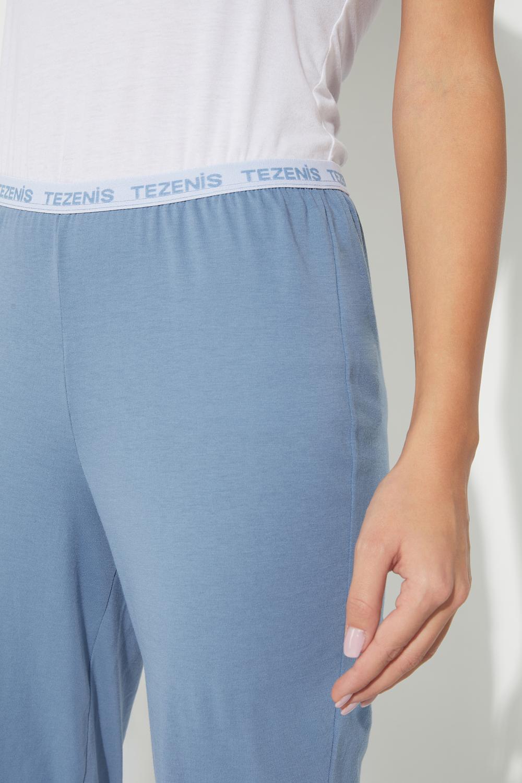 Long Pants in Logo Cotton