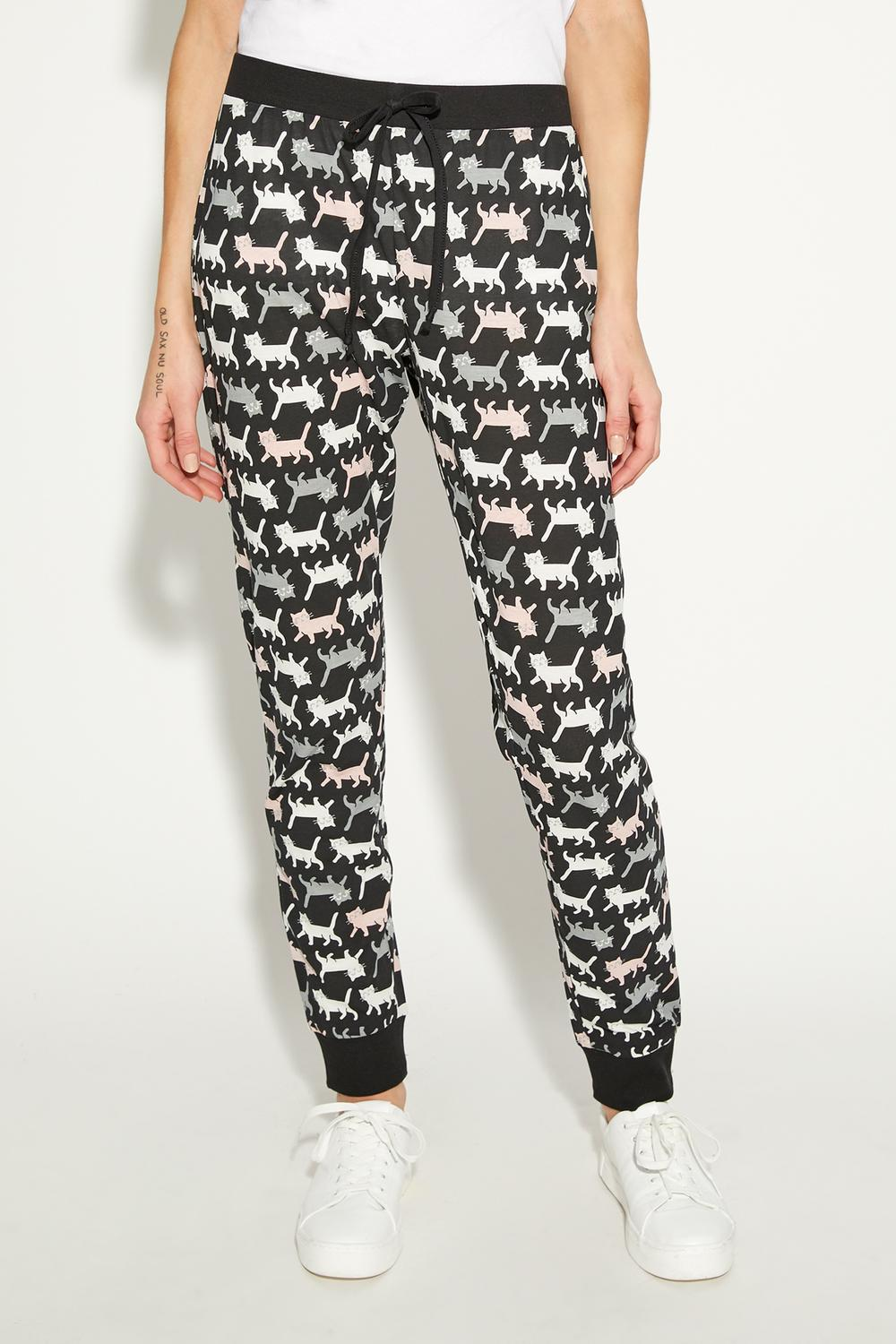 Long Print-Detail Trousers