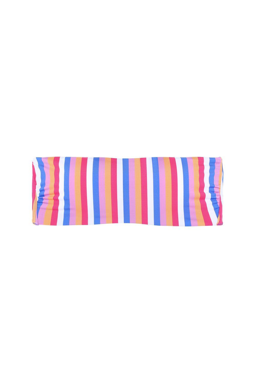 Rainbow Padded Bandeau Bikini Top