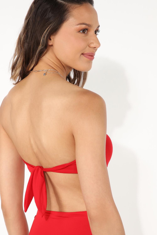 Padded Bandeau Bikini Top with Knot