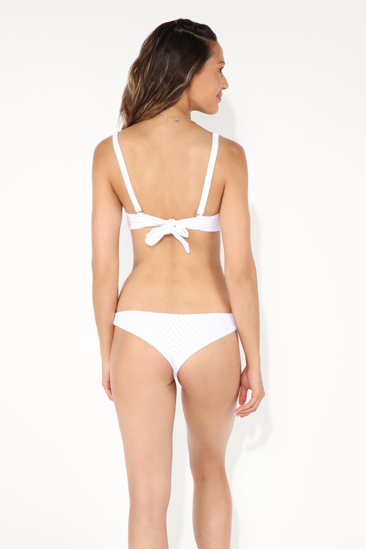 Top Bikini Cruce Detalle Jacquard