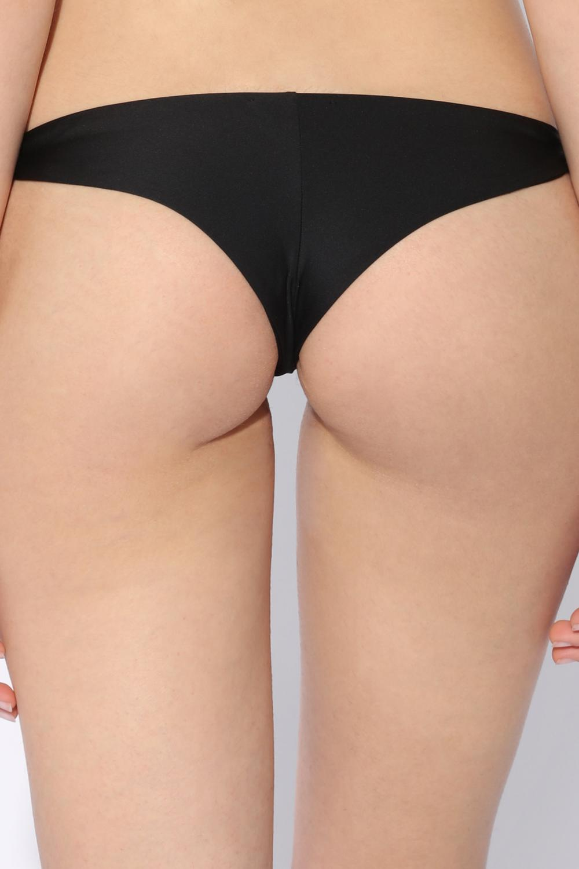 Plain Bow-Detail Brazilian-Style Bikini Briefs