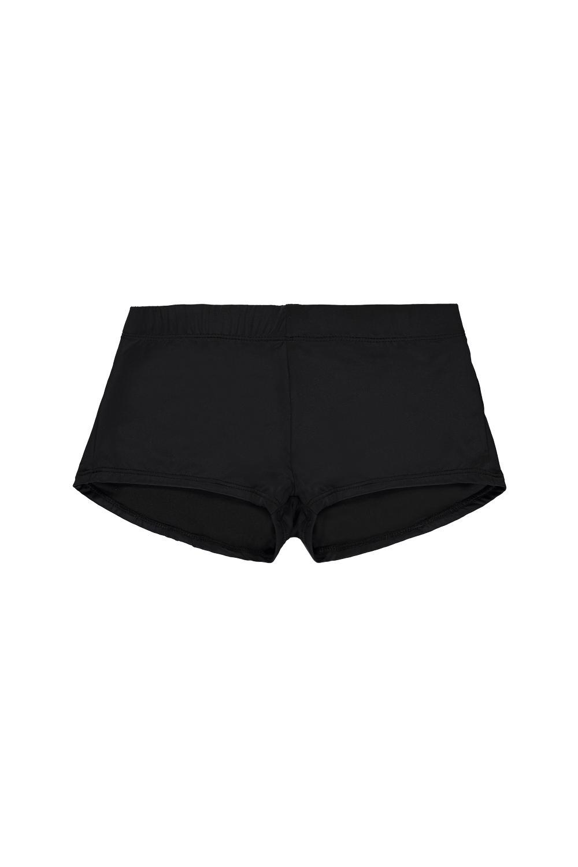 Boy-Short Bikini Bottoms in Plain Hues