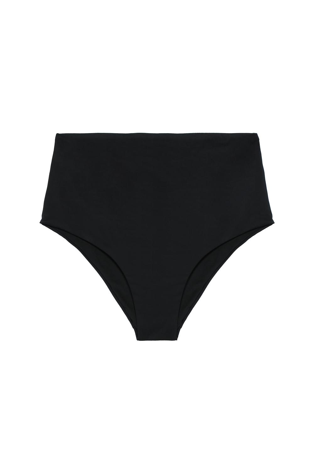 Plain High-Waisted Brief Bikini Bottoms