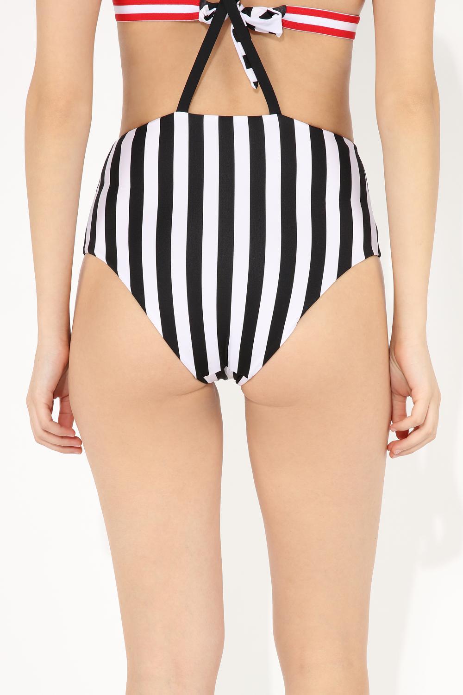 Bikini Slip a Vita Alta Dettaglio Bretelle Skipper