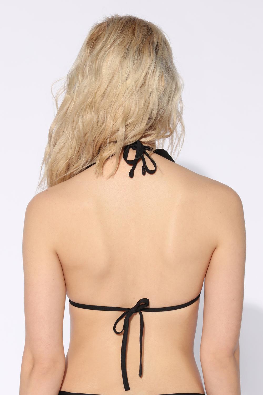 Bikini Triángulo con Volante Liso