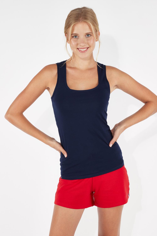 Stretch-Cotton Vest Top