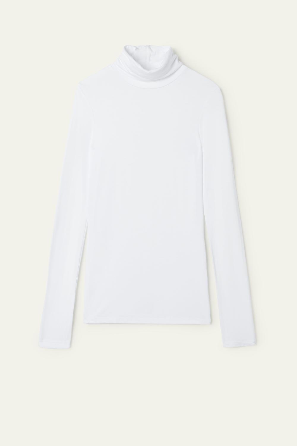 Long-Sleeve High-Neck Top