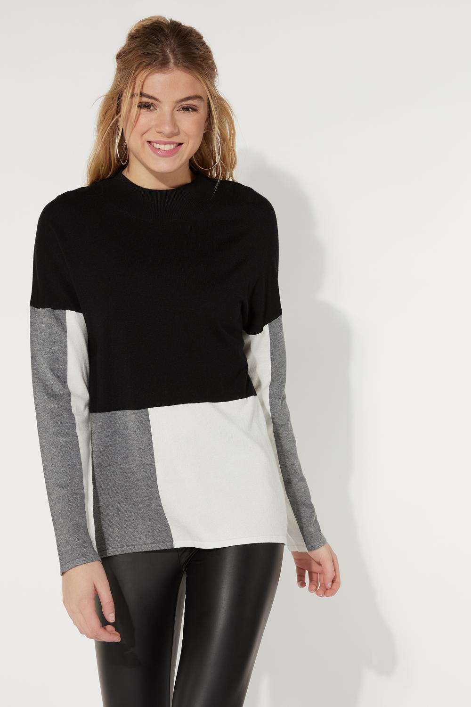 Long Sleeve Color Block Top