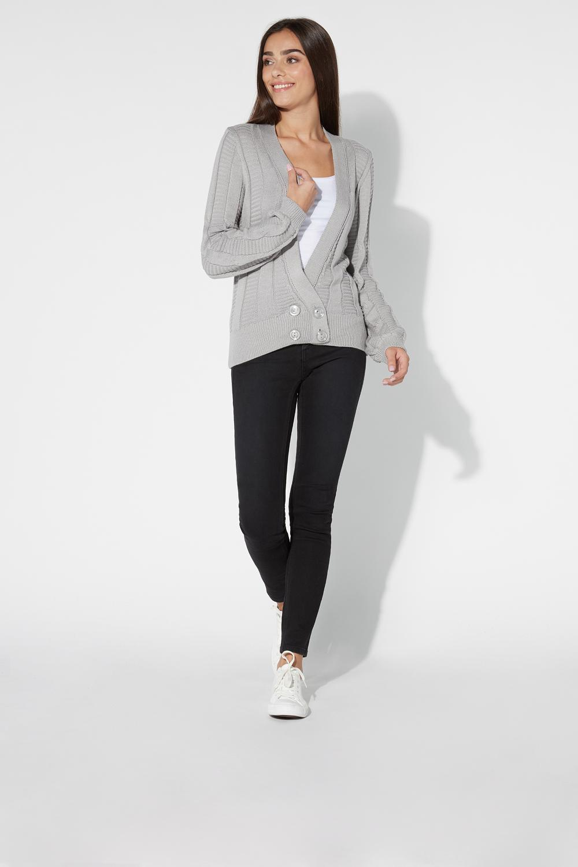 Long-Sleeved Loungewear Button Cardigan