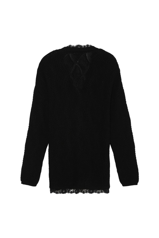 Long-Sleeved Lace Loungewear Cardigan