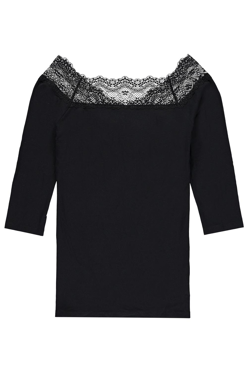 3/4 Sleeve Off-The-Shoulder Lace Top