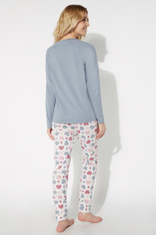 Long Heart Print Pyjamas