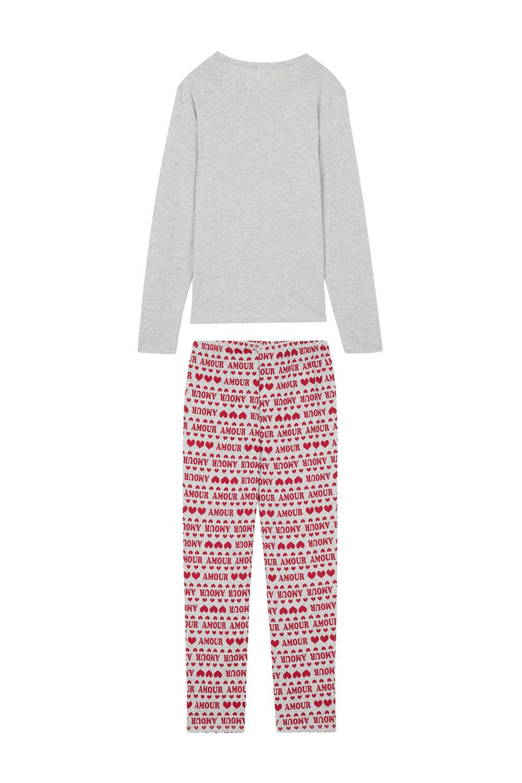 Long Amour Print Pyjamas