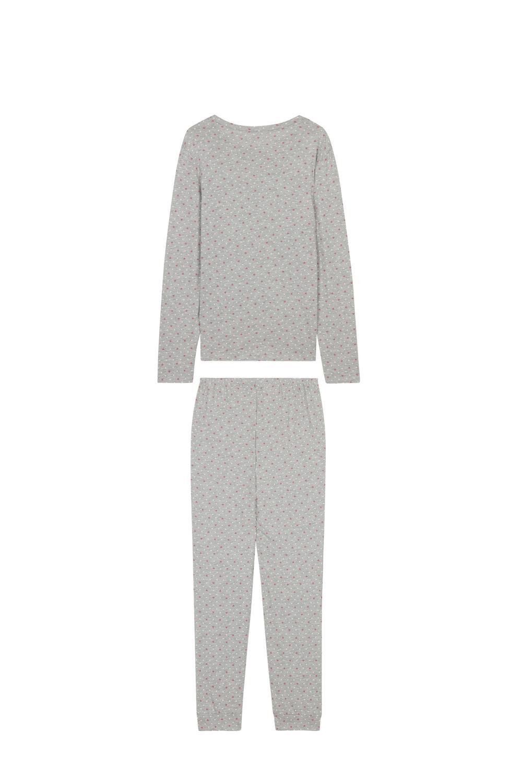 Long Smile Print Pyjamas