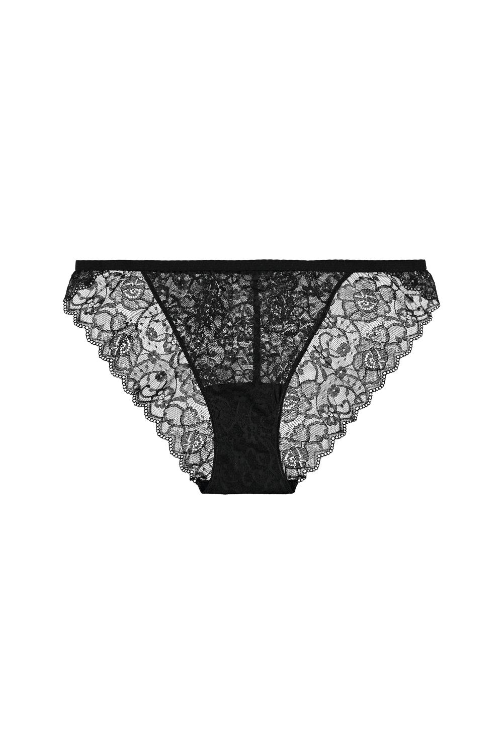 Lace Briefs with Elastic Side Straps