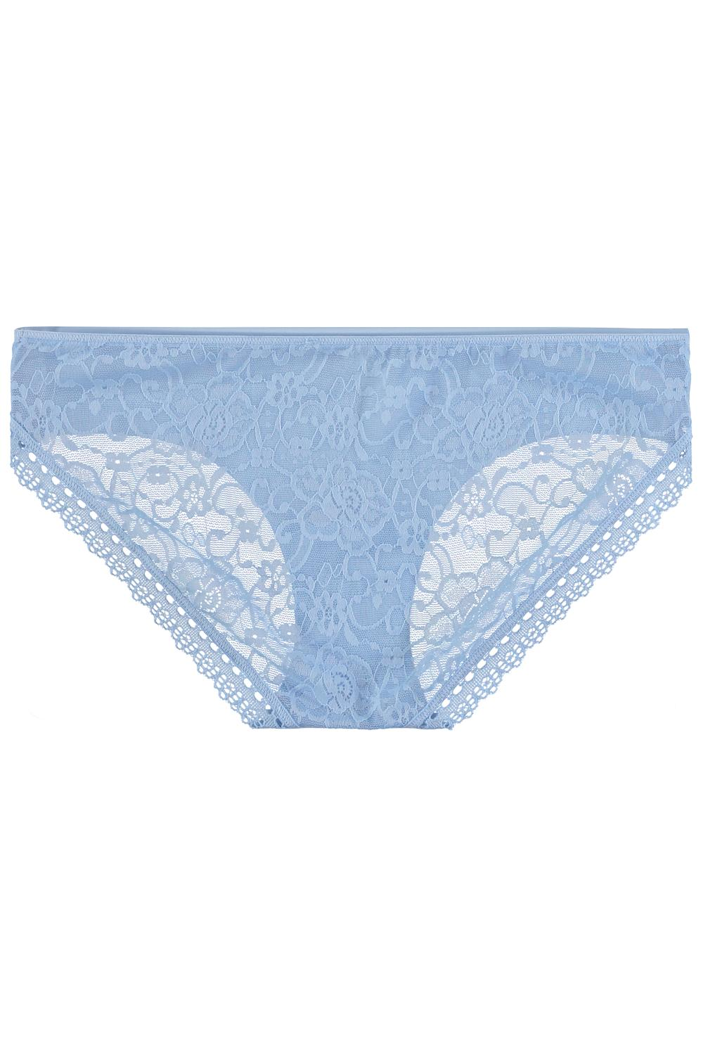 Lace and Raw-Cut Microfibre Panties