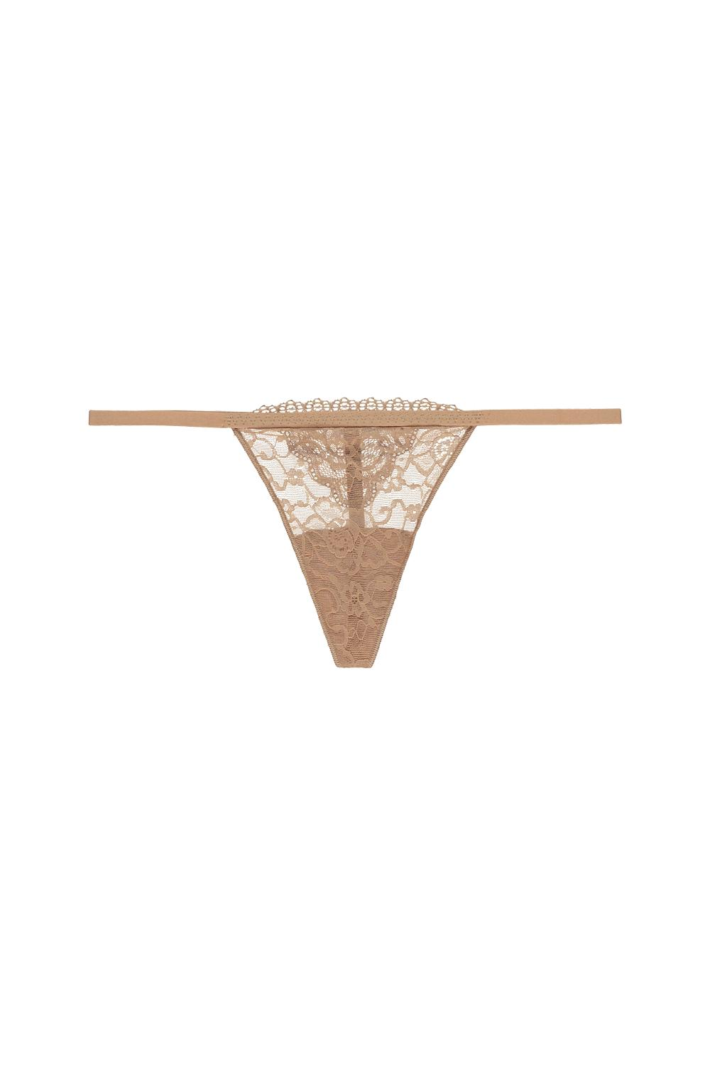 Lace G-String with Elastic Side Straps