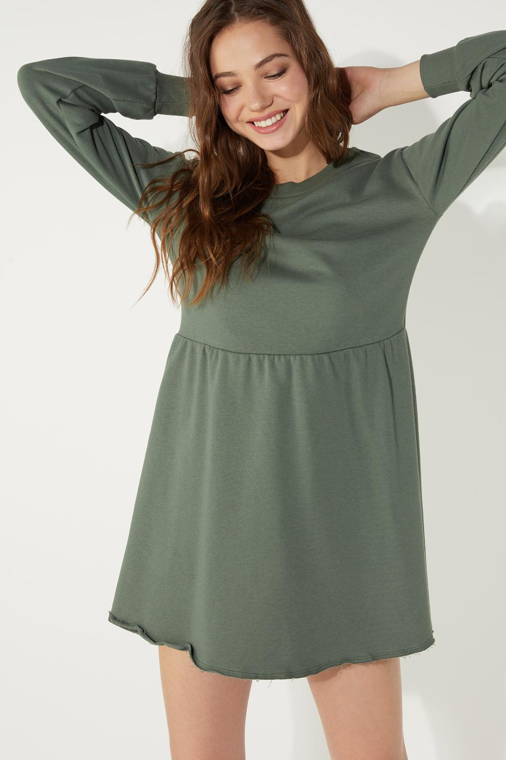 Long Sleeve Dress in Fleece