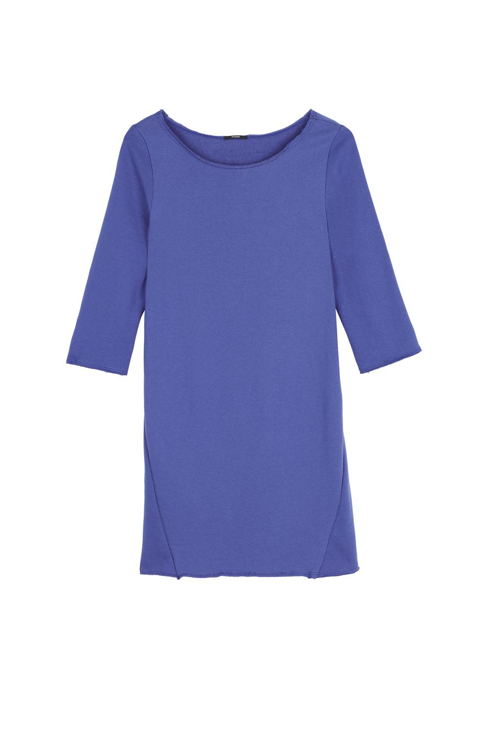 Fleece Dress with Boat Neckline