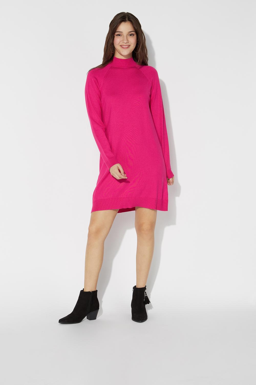 Long-Sleeved High-Neck Dress