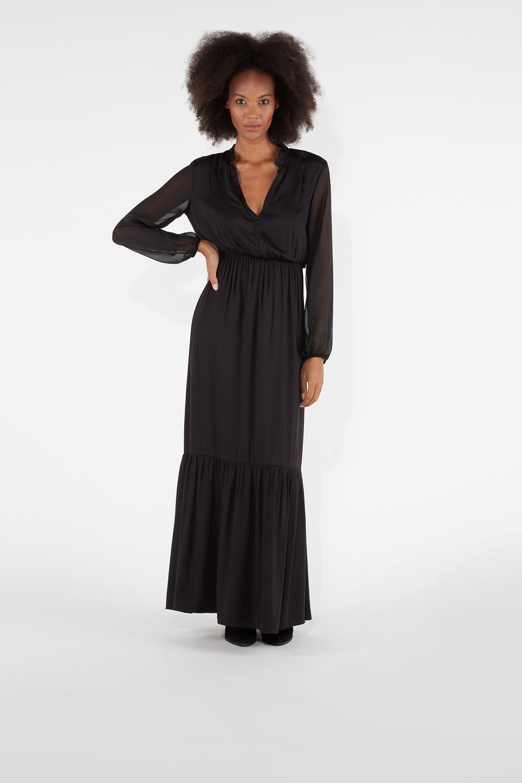 Long V-neckline Dress