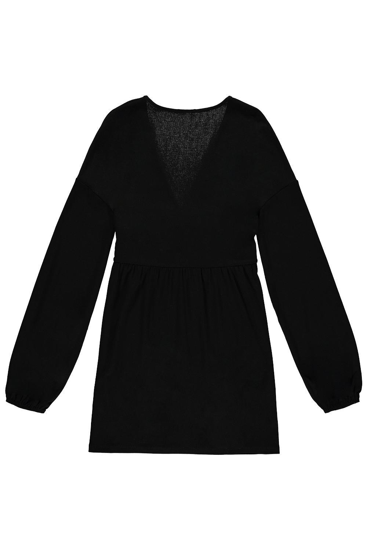 Krótka Sukienka Głęboki Dekolt w Kształcie V