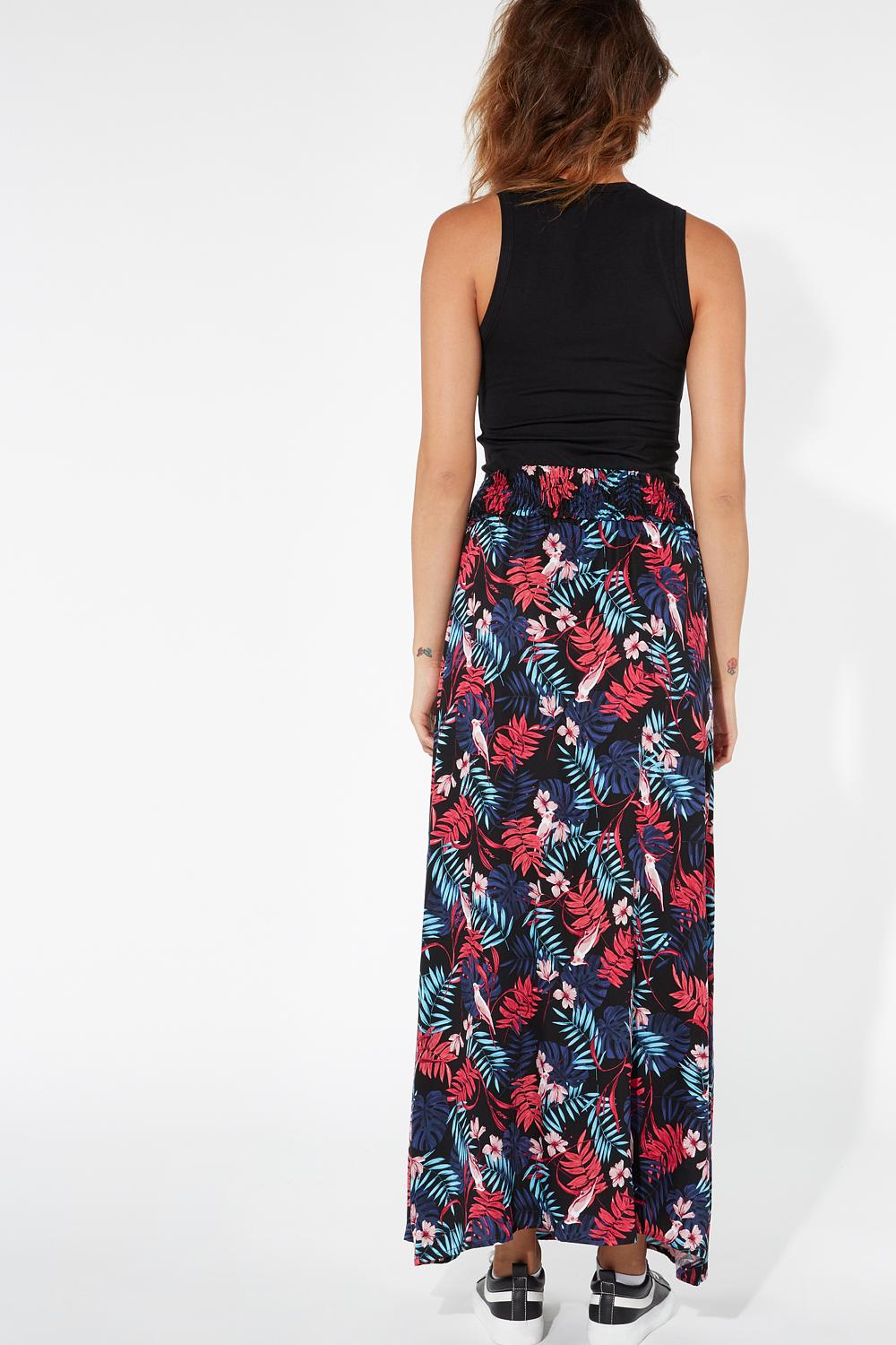 Long Deep Side Splits Skirt