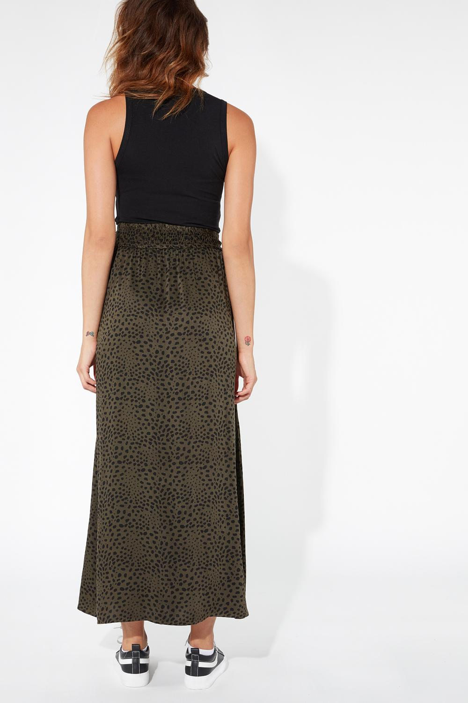 Long Deep Side Splits Skirt