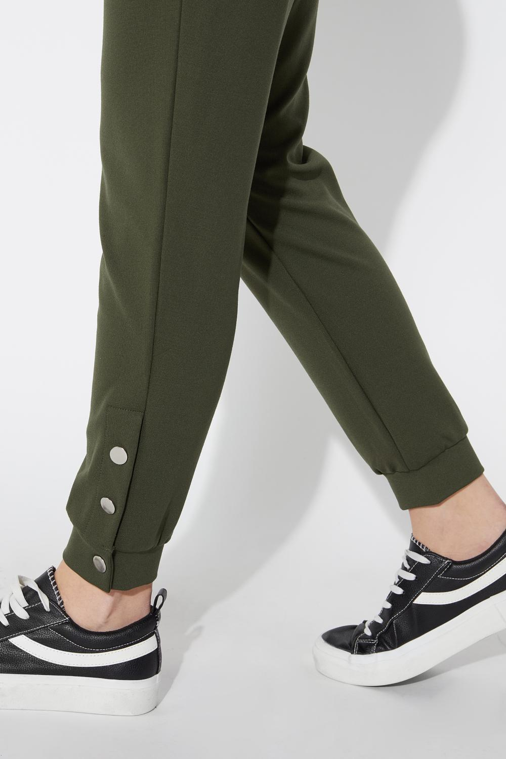 Milano Stitch Jogging Pants with Buttons at the Hem