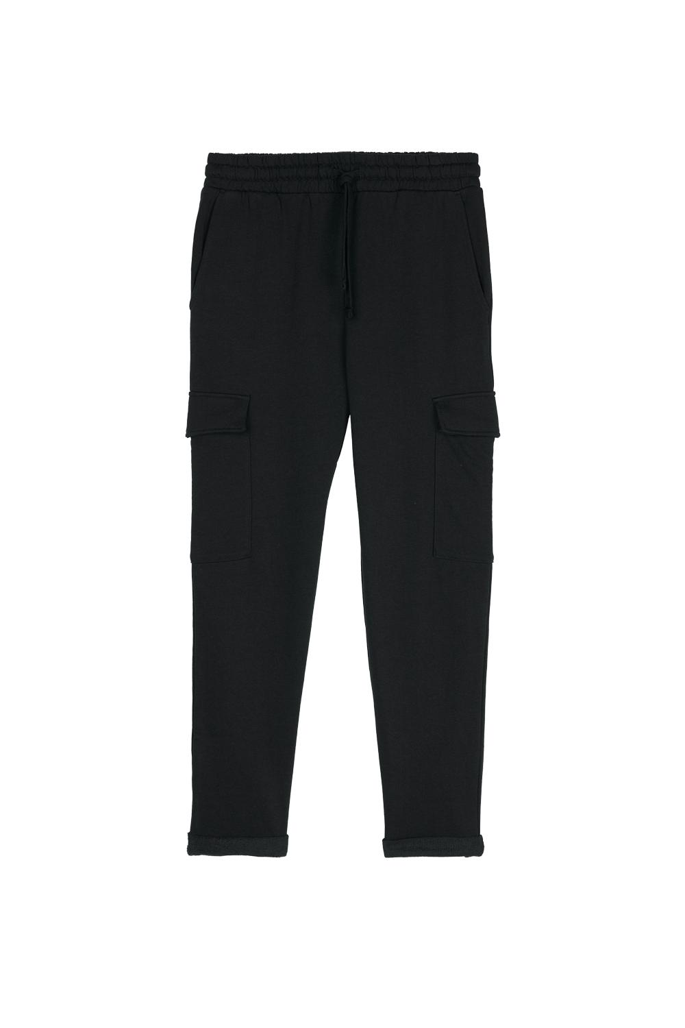 Fleece Jogging Pants with Cargo Pockets