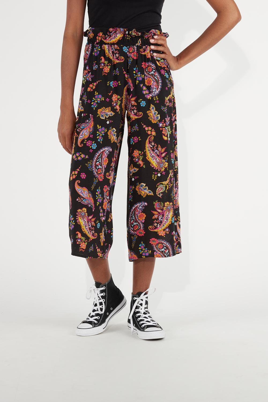Culotte Pants in Plain-Weave Viscose