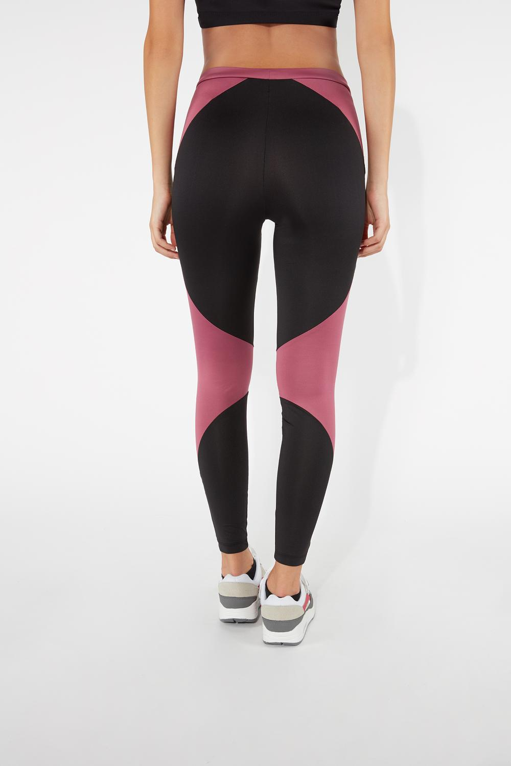 Leggings de Microfibra en Contraste de Color