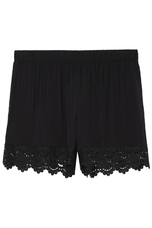 Shorts with Macramé Detail