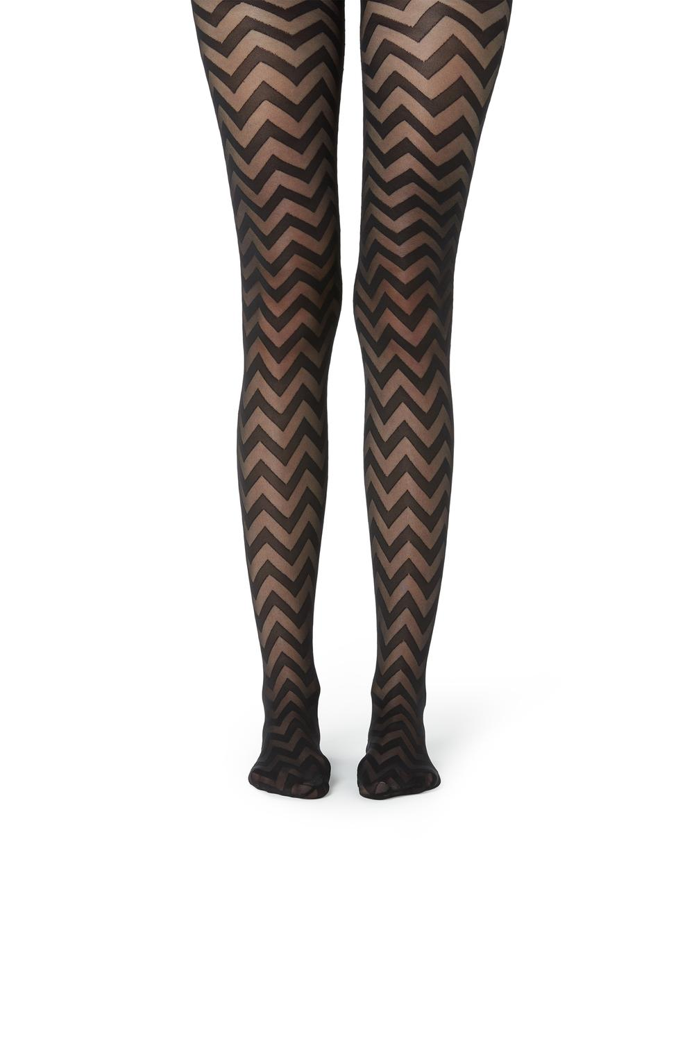 40-Denier Print Tights